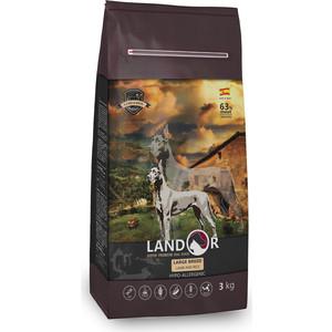 все цены на Сухой корм LANDOR Adult Large Breed Lamb and Rice гипоаллергенный с ягнёнком и рисом для взрослых собак крупных пород 3кг онлайн