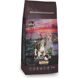 Сухой корм LANDOR Puppy All Breed Duck and Rice гипоаллергенный с уткой и рисом для щенков всех пород от 1 до 18 месяцев 1кг