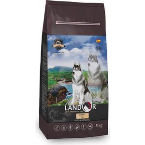 Сухой корм LANDOR Adult Dog Fish гипоаллергенный с морской рыбой и рисом для взрослых собак всех пород 3кг
