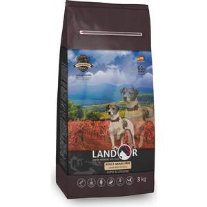 Сухой корм LANDOR Adult Dog Grain Free Lamb and Potato беззерновой гипоаллергенный с ягненком и картофелем для взрослых собак всех пород 3кг