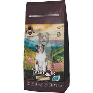 Сухой корм LANDOR Senior and Adult Dogs Improving Brain Activity гипоаллергенный с уткой и рисом для пожилых взрослых собак всех пород 15кг
