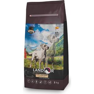 Сухой корм LANDOR Puppy Large Breed Lamb with Rice гипоаллергенный с ягнёнком и рисом для щенков крупных пород 3 кг