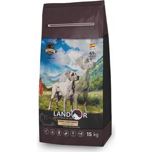 Сухой корм LANDOR Puppy Large Breed Lamb with Rice гипоаллергенный с ягнёнком и рисом для щенков крупных пород 15 кг dailydog сухой корм dailydog puppy large breed для щенков крупных пород с курицей и рисом 12 кг
