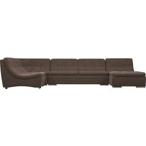 Диван модульный WOODCRAFT Монреаль 11 контрастная отстрочка темно-коричневая замша угловой модульный диван монреаль 4