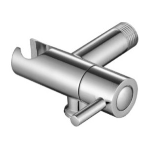 Подключение для шланга Kaiser с держателем и краном, хром (0049)