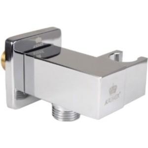Подключение для шланга Kaiser квадратный с держателем, хром (0048)