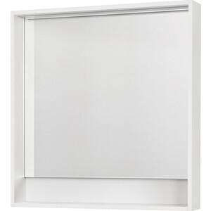 Зеркало Акватон Капри 80 белый, с подсветкой, полочка (1A230402KP010)