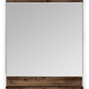 Зеркало Акватон Капри 80 таксония темная, с подсветкой, полочка (1A230402KPDB0)