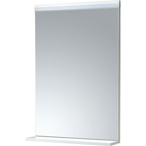 Зеркало Акватон Рене 60 белый/грецкий орех, с подсветкой, полочка (1A222302NR010)