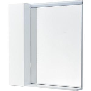 цена Зеркальный шкаф Акватон Рене 80 белый/грецкий орех, с подсветкой (1A222502NRC80) онлайн в 2017 году