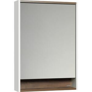 Зеркальный шкаф Акватон Капри 60 таксония темная, с подсветкой (1A230302KPDB0)