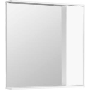 Зеркальный шкаф Акватон Стоун 80 белый глянец, с подсветкой (1A228302SX010) зеркальный шкаф edelform nota 105 с подсветкой серый глянец