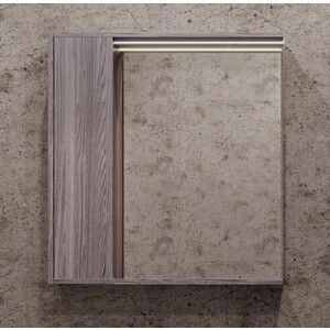 Зеркальный шкаф Акватон Стоун 80 грецкий орех, с подсветкой (1A228302SXC80)