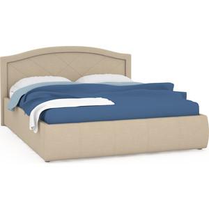 Кровать интерьерная Нижегородмебель Виго подъемный ортопед, ткань савана кэмел (бежевая)