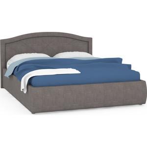 Кровать интерьерная Нижегородмебель Виго подъемный ортопед, ткань савана латте (светло-серая) цена и фото