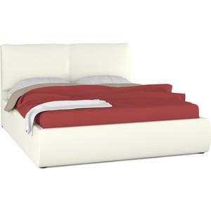 Кровать интерьерная Нижегородмебель Камилла подъемный ортопед, искусственная кожа белая