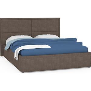 Кровать интерьерная Нижегородмебель Прага подъемный ортопед, ткань савана хазел (карий)