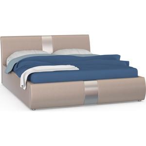 Кровать интерьерная Нижегородмебель Челси подъемный ортопед, искусственная кожа бежевая