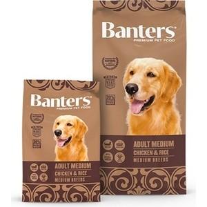 Сухой корм Banters Adult Dog Medium Breeds Chicken & Rice с курицей и рисом для собак средних пород 15кг (BAM50AM15)