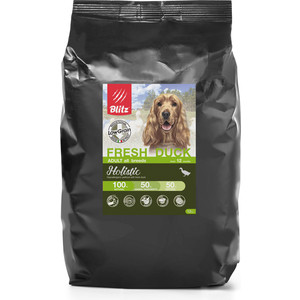 Сухой корм Blitz Petfood Holistic Adult All Breeds Low Grain Fresh Duck низкозерновой с уткой для собак всех пород 12кг