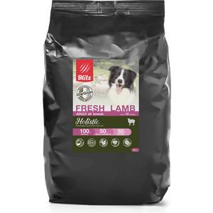 Сухой корм Blitz Petfood Holistic Adult All Breeds Low Grain Fresh Lamb низкозерновой с ягненком для собак всех пород 12кг сухой корм blitz petfood superior nutrition adult dog small breeds up to10kg with lamb
