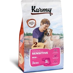 Сухой корм Karmy Sensitive Dog Mini Лосось для собак мелких пород с чувствительным пищеварением 2кг