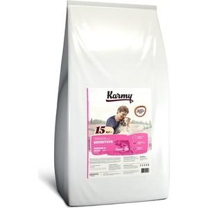 Сухой корм Karmy Sensitive Dog Medium & Maxi Лосось для собак средних и крупных пород с чувствительным пищеварением 15кг