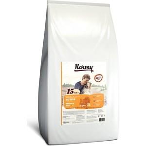 Сухой корм Karmy Active Dog Medium & Maxi Индейка для собак средних и крупных пород c повышенным уровнем физической активности 15кг