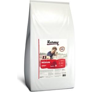 Сухой корм Karmy Medium Adult Dog Индейка для взрослых собак средних пород 15кг