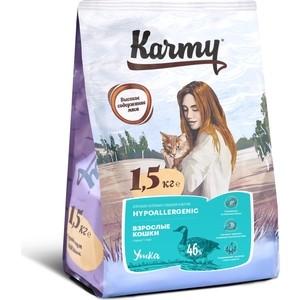 Сухой корм Karmy Hypoallergenic Cat Утка гипоаллергенный для кошек, склонных к пищевой аллергии 1,5кг
