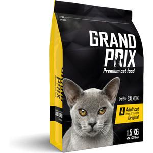 купить Сухой корм Grand Prix Original Adult Cat Salmon с лососем для кошек 1,5кг по цене 598.5 рублей