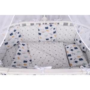Бортик в кроватку AmaroBaby WB 12 предметов (12 подушек-бортиков) КОСМОС (белый)