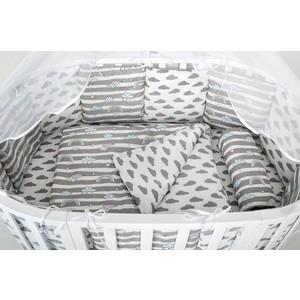 Фото - Бортик в кроватку AmaroBaby WB 12 предметов (12 подушек-бортиков) РАДУГА (серый) термопот convito wb 12