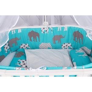 Бортик в кроватку AmaroBaby WB на молнии (4 подушки-бортика) СЛОНИКИ