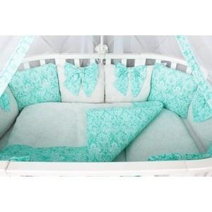 Комплект в кроватку AmaroBaby Premium 18 предметов (6+12 бортиков) ЭЛИТ (бязь, мятный)