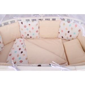 Комплект в кроватку AmaroBaby WB Premium 18 предметов (6+12 бортиков) ЭСКИМО (белый)