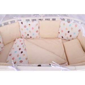 Комплект в кроватку AmaroBaby WB 15 предметов (3+12 подушек-бортиков) ЭСКИМО (бязь, розовый)