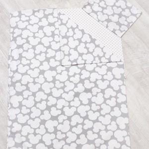 Комплект в кроватку AmaroBaby WB 3 предмета 1,5 спальный TIME TO SLEEP (Мышонок, серый) комплект 3 предмета лео для мальчика цвет серый