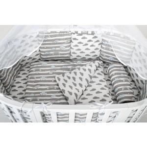 Комплект в кроватку AmaroBaby WB 3 предмета BABY BOOM (Радуга, серый)
