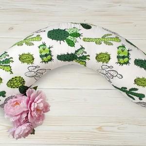 Подушка для беременных AmaroBaby WB 170х25 (Кактусы)