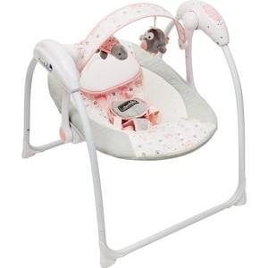 Электронные качели AmaroBaby Swinging Baby GRAY-PINK (серо-розовый)