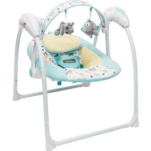 Электронные качели AmaroBaby Swinging Baby TURQUOISE (бирюзовый)