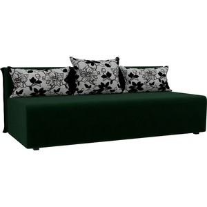 Прямой диван Лига Диванов Кесада велюр зеленый прямой диван лига диванов кэдмон велюр зеленый