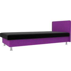 Кровать Лига Диванов Мальта микровельвет черный/фиолетовый