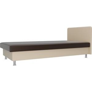 Кровать Лига Диванов Мальта экокожа коричневый/бежевый