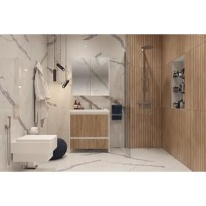 Мебель для ванной Velvex Klaufs 80 напольная, белый\дерево