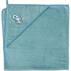 Полотенце уголок Ceba Baby 100*100 см Seahorse aqua W-815-098-158