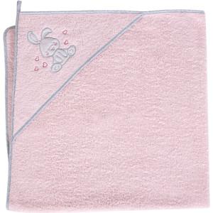 Полотенце уголок Ceba Baby 100*100 см Small Bunny pink W-815-097-137