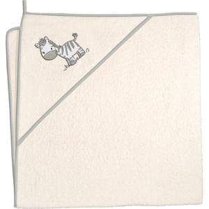 Полотенце уголок Ceba Baby 100*100 см Zebra beige W-815-002-110