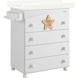 Комод Micuna Baby Star пеленальный B-970 white/waterwood матрасик stars beige
